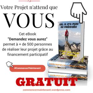 Cet eBook « Demandez vous aurez » permet à plus de 500 personnes de réaliser leur projet grâce au financement participatif