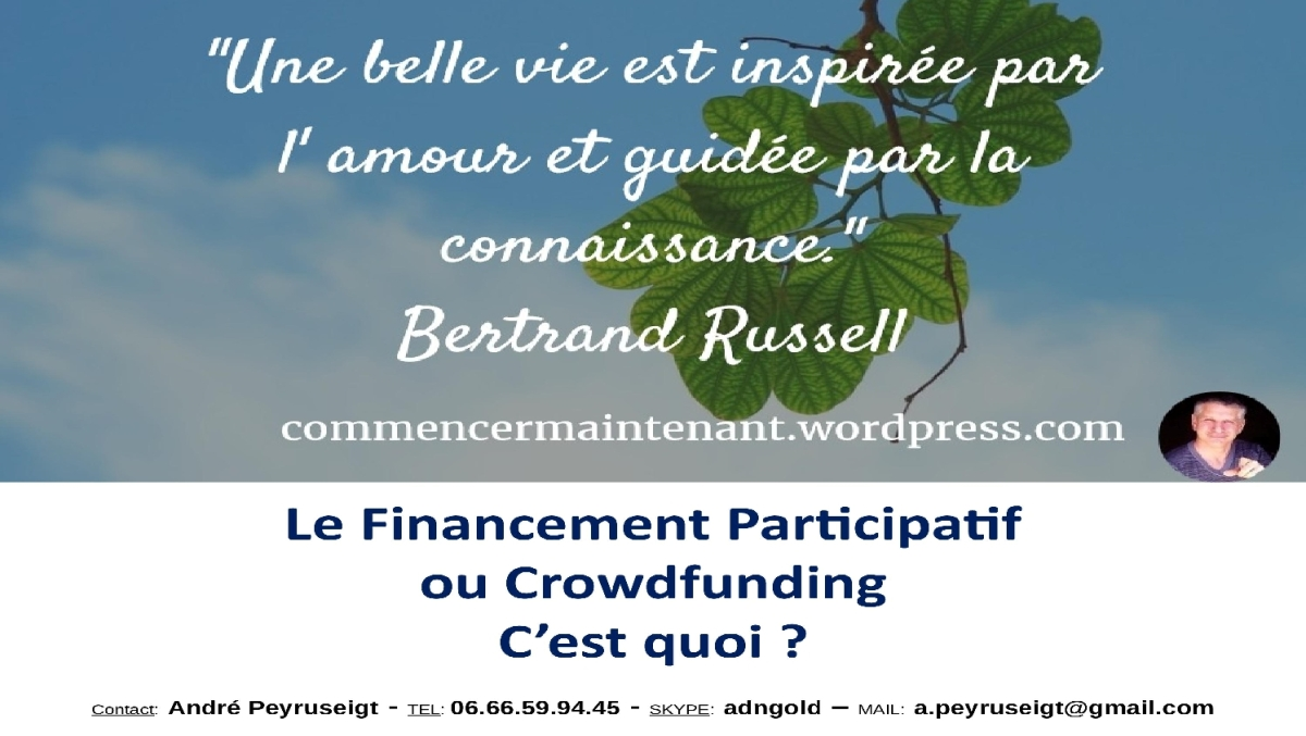 LE CROWDFUNDING ACCESSIBLE A TOUS